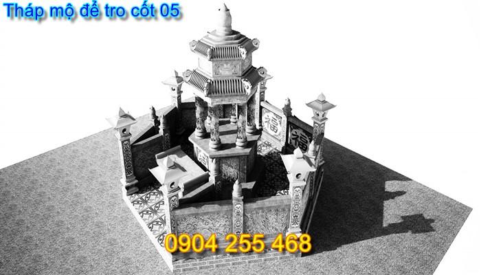 mộ tháp để tro cốt bằng đá