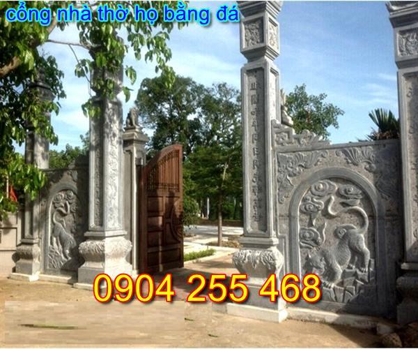 xây dựng cổng đá nhà thờ họ tại Hà Nội