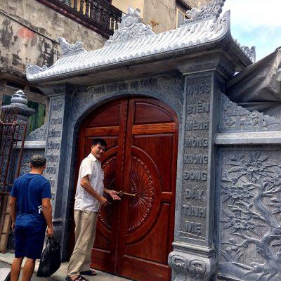 10 Hình ảnh cổng nhà thờ từ đường bằng đá tự nhiên đẹp nhất
