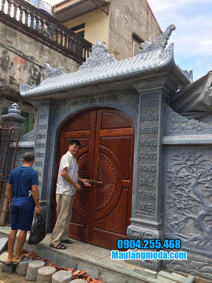 Mẫu cổng đá nhà thờ từ đường