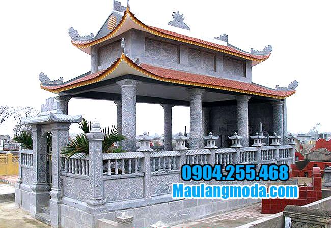 Nhà mồ hiện đại đẹp bằng đá xanh tự nhiên