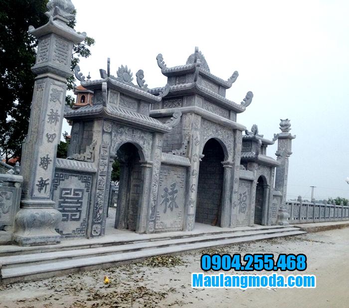 Cơ sở xây cổng tam quan bằng đá đẹp theo yêu cầu uy tín, giá rẻ