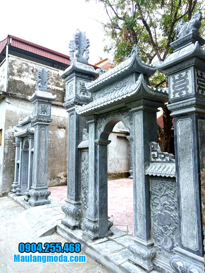 Xây cổng tam quan bằng đá