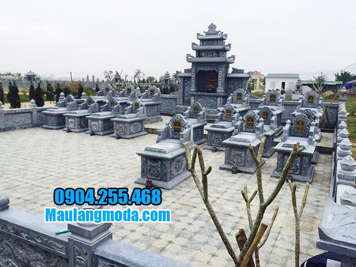 khu lăng mộ đá đẹp sản xuất tại ninh vân ninh bình