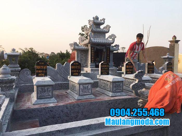 xây dựng lăng mộ đá gia đình