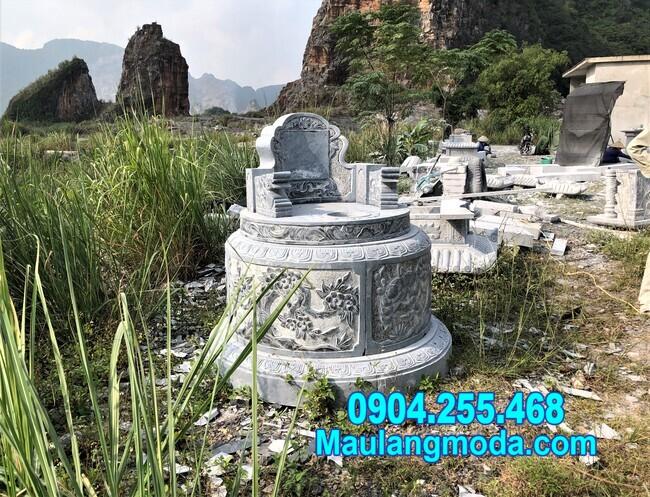Kích thước mẫu mộ tròn đẹp bằng đá chuẩn phong thủy