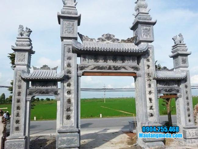 cổng làng đá đẹp