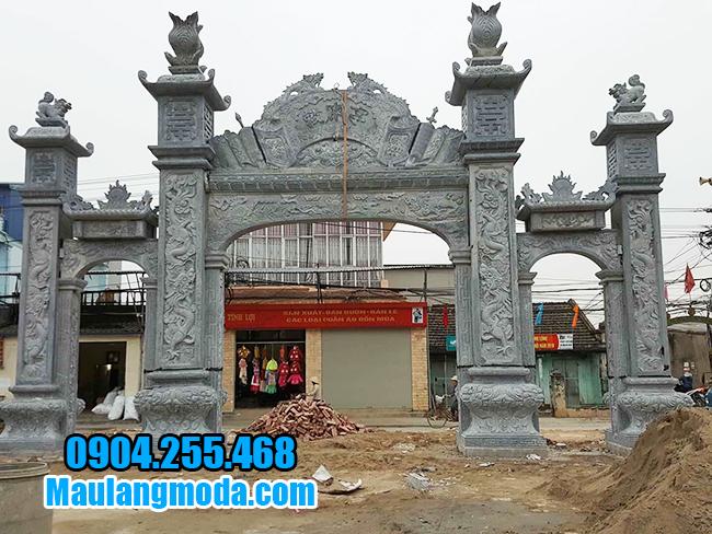 cổng làng đẹp bằng đá xanh