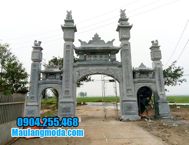cổng làng đẹp bằng đá