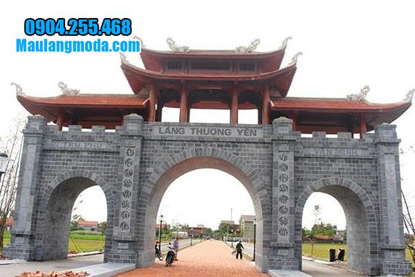 cổng làng bằng đá xanh