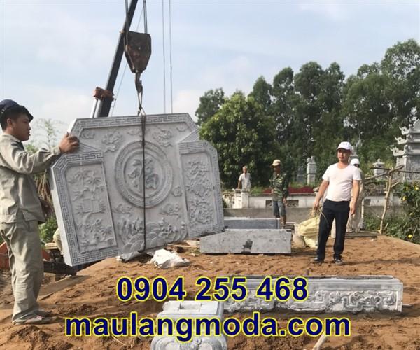 Lắp đặt cuốn thư đá khu lăng mộ tại Bắc Giang 2