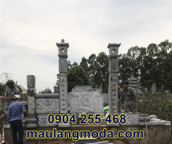 Lắp đặt lăng mộ đá tại Bắc Giang 4
