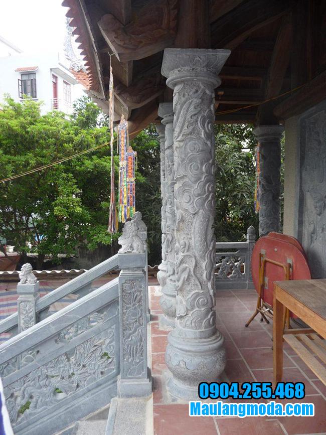 mẫu cột hiên hình tròn bằng đá