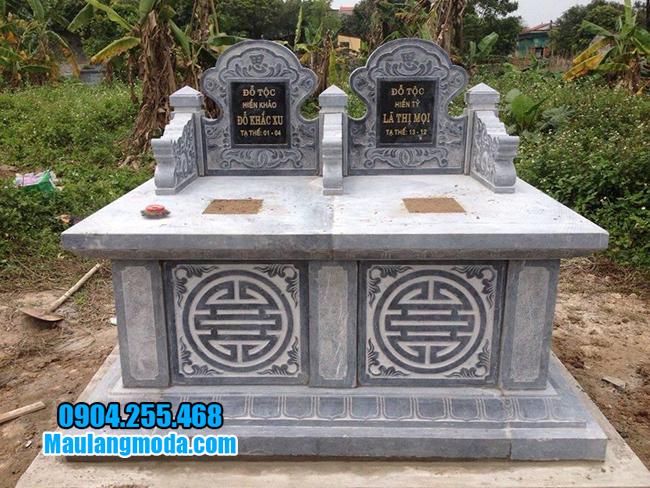 mẫu mộ bành bằng đá