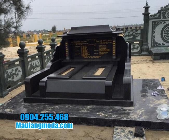 mộ đá granite nguyên khối