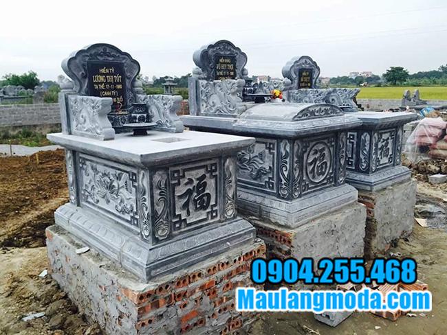 mộ bành bằng đá xanh