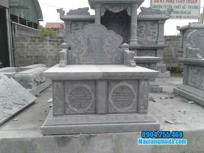 hình ảnh mẫu mộ đá đôi đẹp