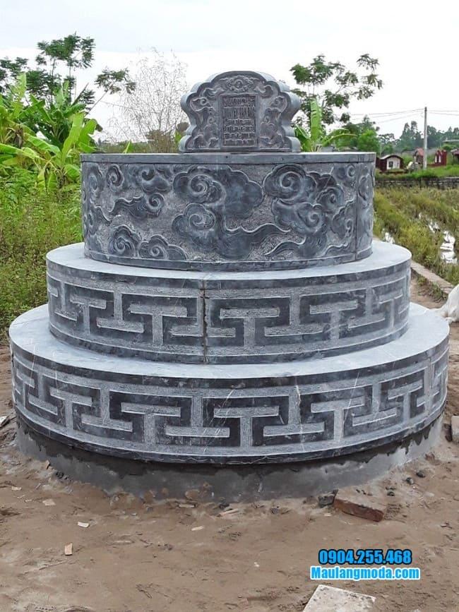 hình ảnh mẫu mộ đá tròn đẹp