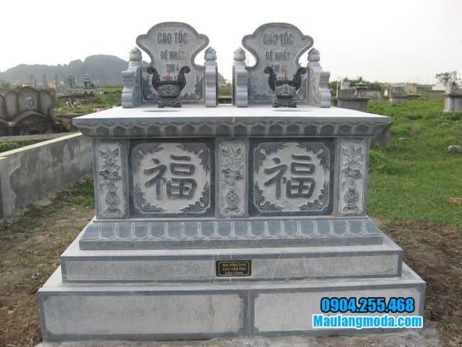 hình ảnh mẫu mộ đôi bằng đá đẹp