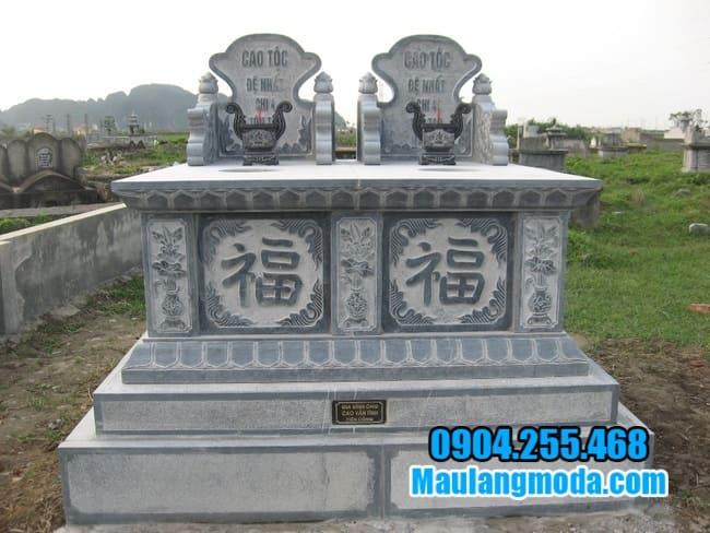 mẫu mộ đá đôi tại tiền giang