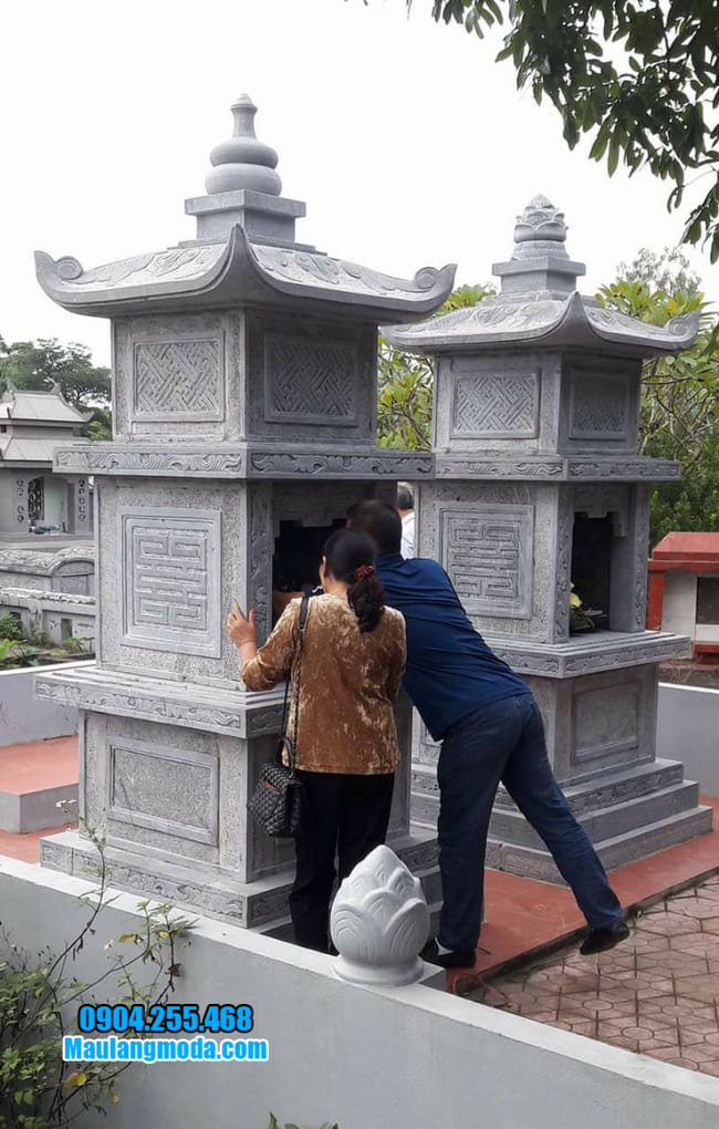 mẫu mộ đá hình tháp tại Quảng Bình đẹp