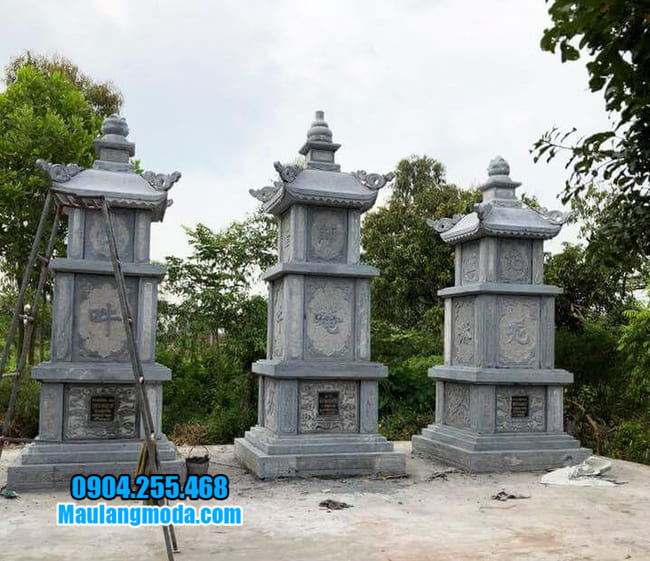mẫu mộ đá hình tháp tại Quảng Nam đẹp