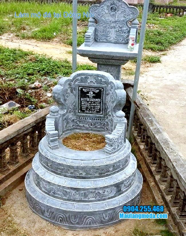 mẫu mộ đá tròn đẹp tại đồng nai