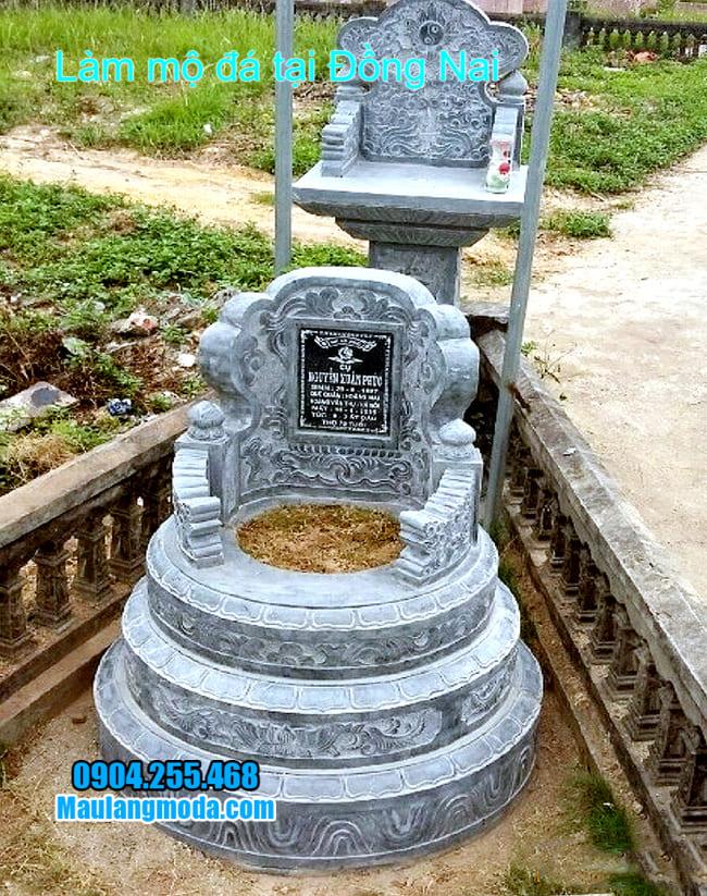 mẫu mộ đá tròn bán tại đồng nai