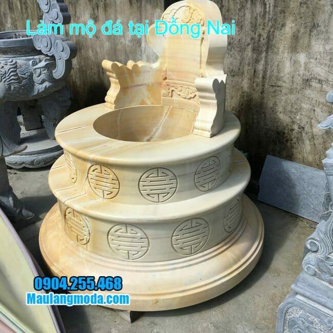 mẫu mộ đá vàng bán tại đồng nai