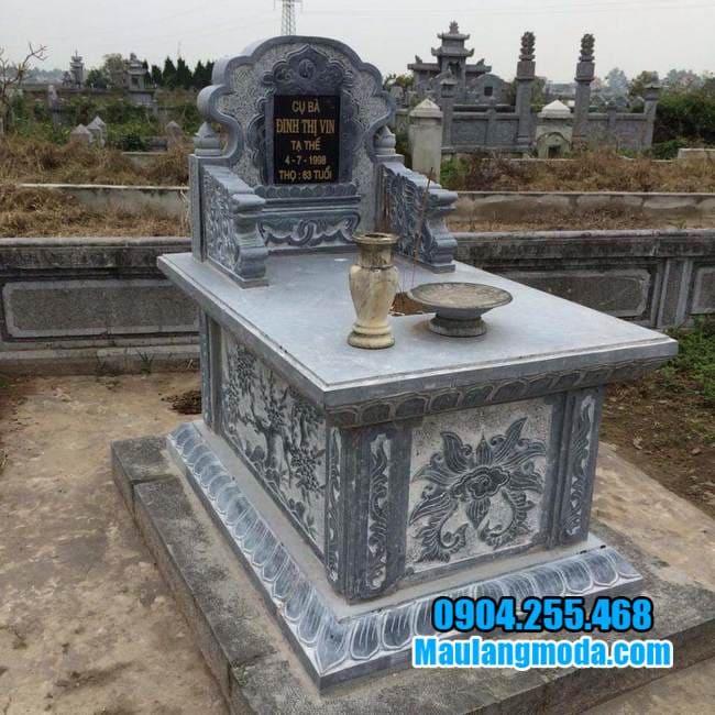 mẫu mộ bành đá tại tiền giang