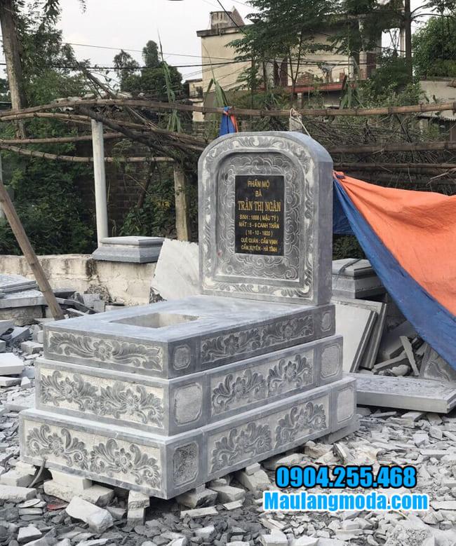 mẫu mộ tam cấp đá tại tiền giang