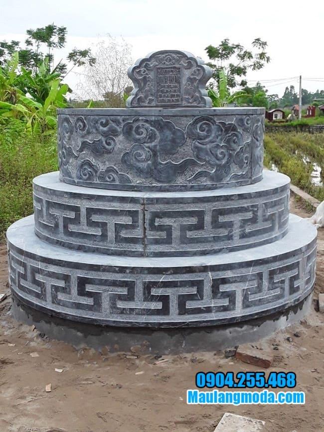 mẫu mộ tròn bằng đá tại tiền giang