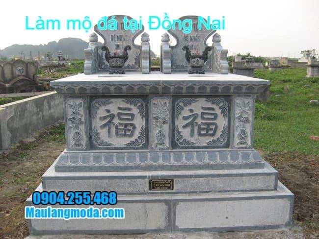 mộ đôi bằng đá đẹp nhất được lắp tại đồng nai