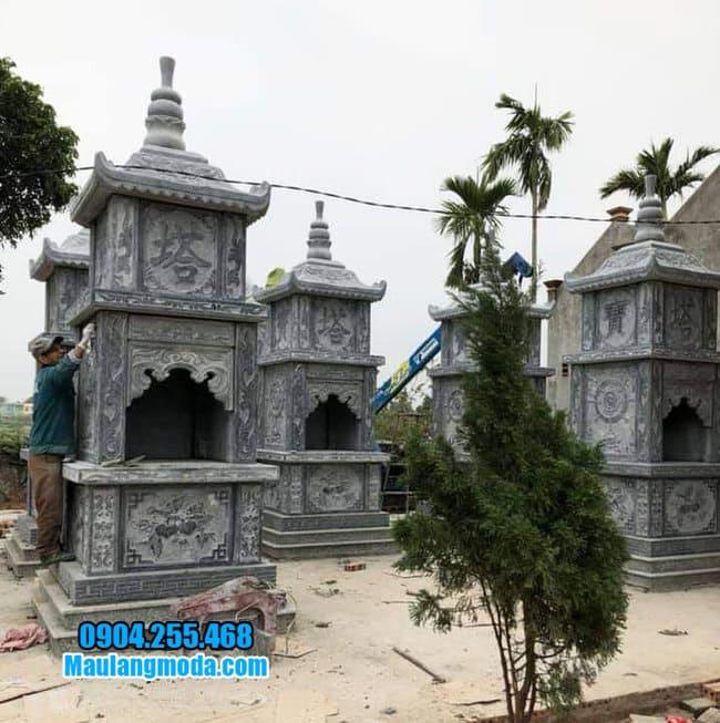 mộ hình tháp phật giáo bằng đá tại Đà Nẵng