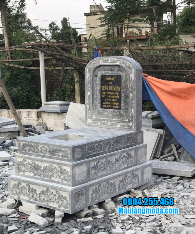mộ tam cấp bằng đá đẹp