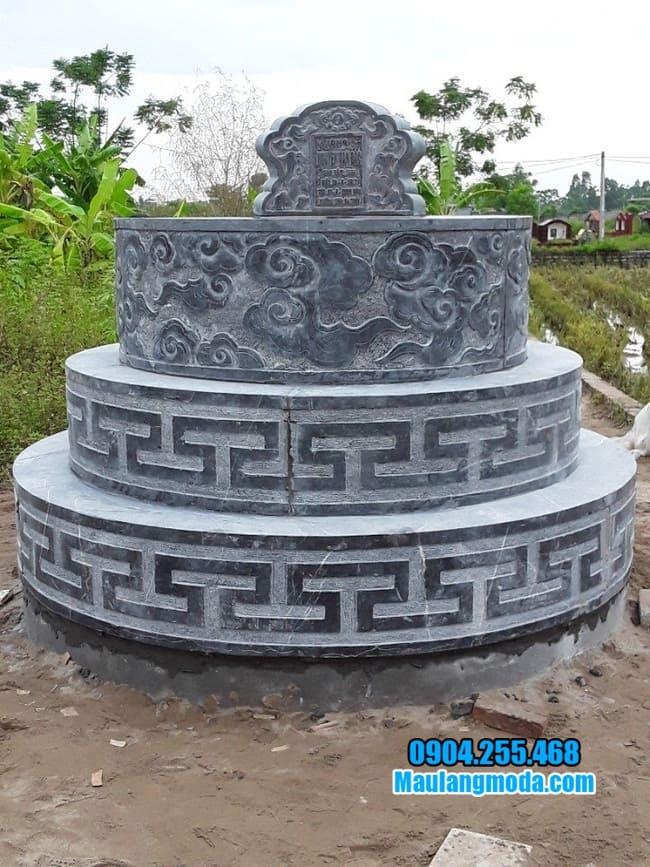 những mẫu mộ tròn bằng đá đẹp