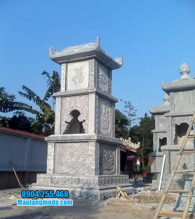mẫu mộ tháp đá tại Khánh Hoà