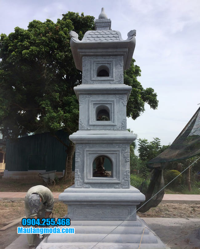 mộ tháp bằng đá tại Khánh Hoà đẹp