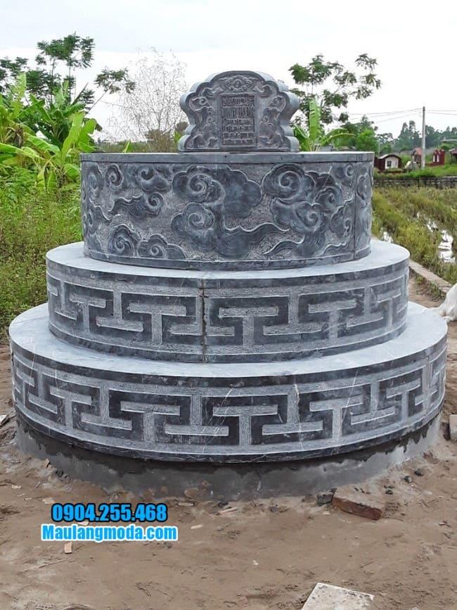 mẫu mộ đá tròn đơn giản đẹp