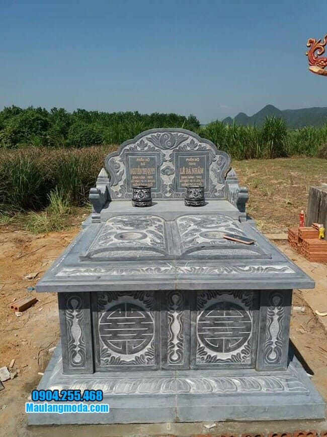 mẫu mộ đôi bằng đá đẹp tại Tây Ninh