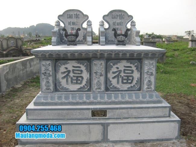 mẫu mộ đôi bằng đá đẹp tại