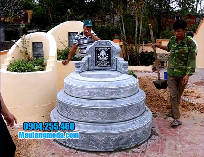 mẫu mộ tròn đẹp bằng đá