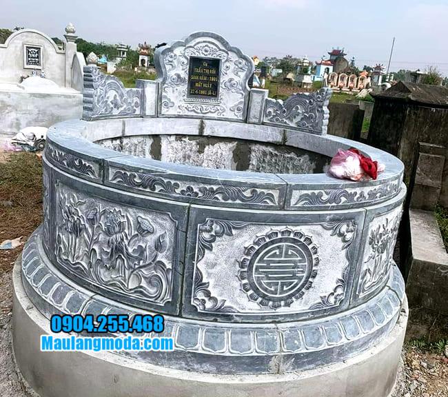mộ tròn đẹp bằng đá