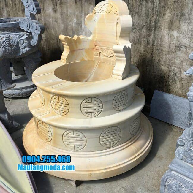 mộ tròn bằng đá vàng