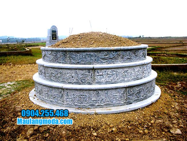 mộ tròn thiết kế đơn giản