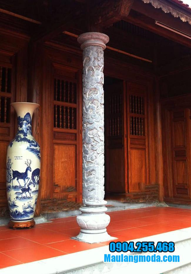 Đặc điểm của các mẫu cột tròn đá xanh đẹp tại Ninh Vân