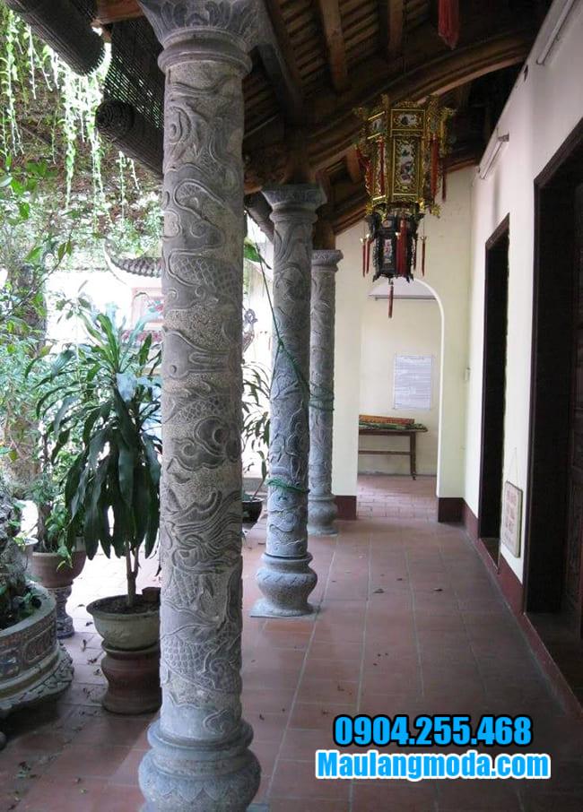 Địa chỉ bán cột tròn đá xanh đẹp nhất Ninh Vân - Ninh Bình