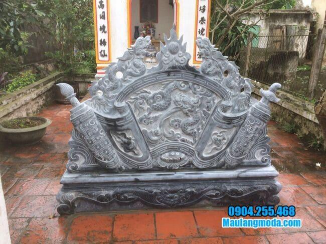 mẫu cuốn thư bằng đá tại Nam Định