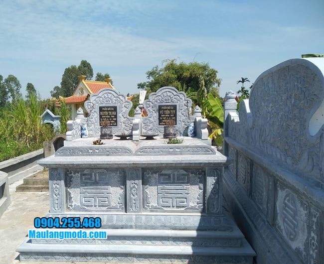 mẫu mộ đôi bằng đá đẹp tại Bình Định