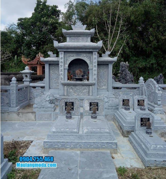 khu lăng mộ đá đẹp tại Bắc Giang